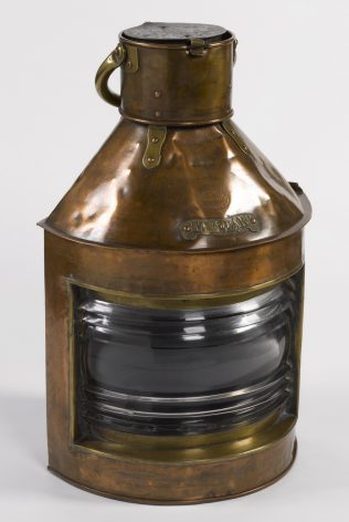 Object No. 90 Lamp from 'River Clyde', 1915   National Museum Decorative Arts & History