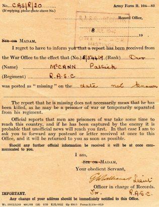 Irishman in British Army in WW2