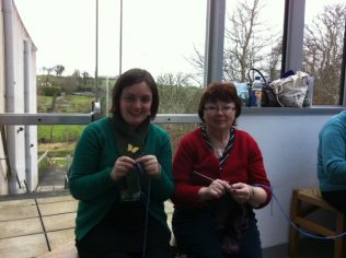 Mary Hall on right, with Aoife O'Toole on left