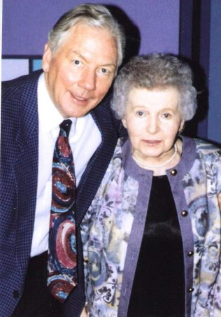 Mary with Gay Byrne | O'Brien Personal Collection