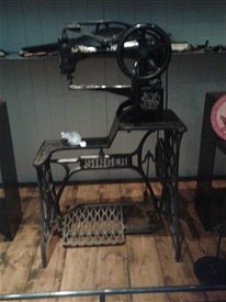This is the sewing machine in the Museum of Country Life