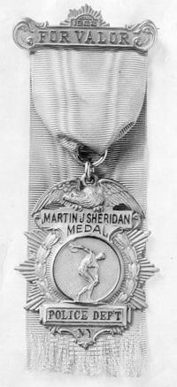 NYPD Martin J Sheridan Award for Valour | https://www.wingedfist.org/Sheridan_peerless_athlete.html