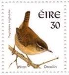 The Dreolín or Wren | An Post 30c Stamp