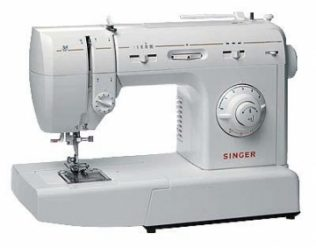 This is a typical modern sewing machine
